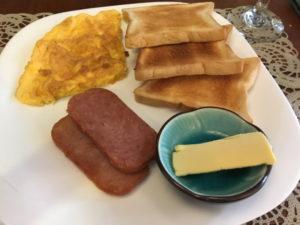 ワオホテルの朝食